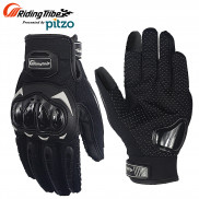 Pitzo Riding Tribe Full Finger Riding Motor Cycle Gloves (PBF_MCS17_Black)