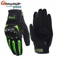 Pitzo Riding Tribe Full Finger Riding Motor Cycle Gloves (PBF_MCS17_Green)