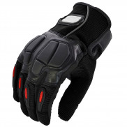 Pitzo PRO-BIKER Full Finger Biker Gloves (MCS22)-Black-XXL