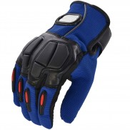 Pitzo Riding Tribe Full Finger Riding Motor Cycle Gloves (PBF_MCS22_Blue)