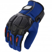 Pitzo PRO-BIKER Full Finger Biker Gloves (MCS22)-Blue-XXL