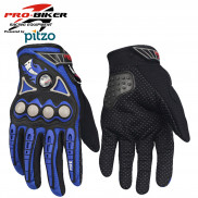 Pitzo PRO-BIKER Full Finger Biker Gloves (MCS23)-Blue-XXL