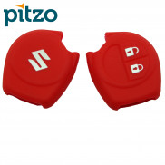 Car Silicone Key Cover Cut Hanger for Key Shell Body Case for Maruti Suzuki -Red